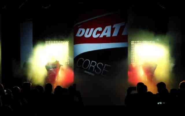 Apresentação da Ducati transmitida ao vivo