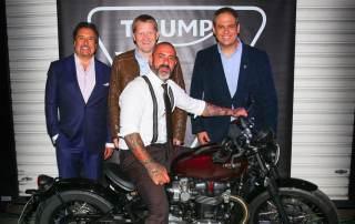 Chef Henrique Fogaça Embaixador da Triumph no Brasil com a Bonneville Bobber