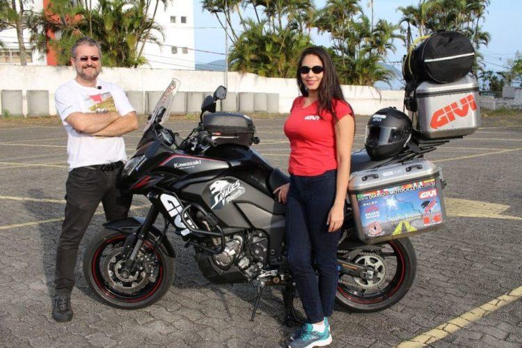 O piloto Guga Dias e sua esposa, Elda Silveira - Arquivo Piloto Guga Dias