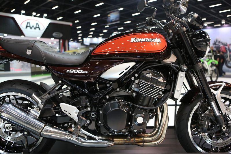 Kawasaki Z 900 RS no Salão Duas Rodas (Foto: Marcelo Brandt/G1)
