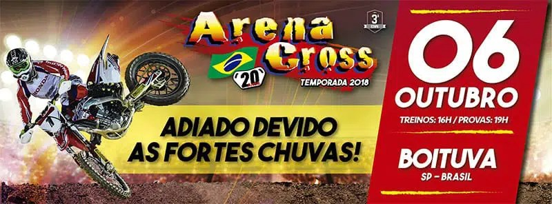 Arena Cross - etapa adiada por causa das chuvas