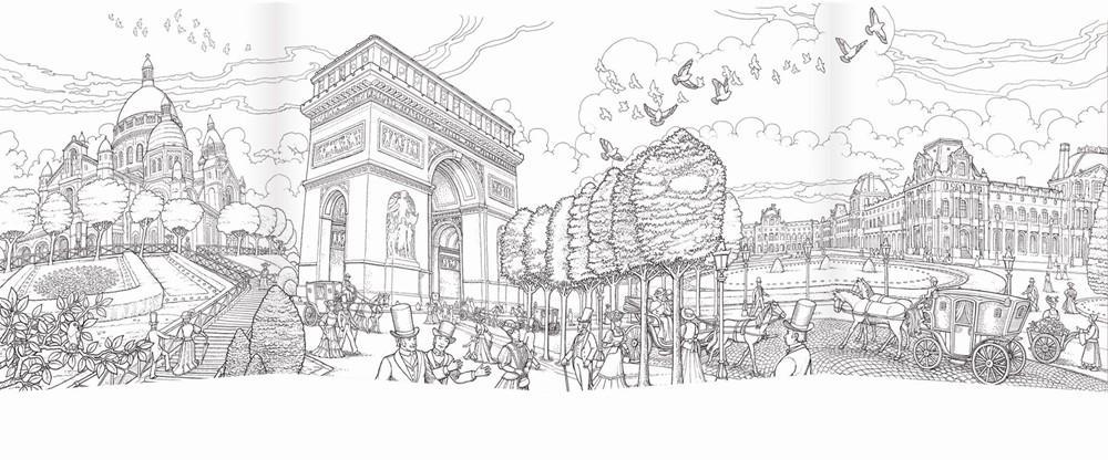 Desenho De Cidade De Paris Para Colorir Tudodesenhos