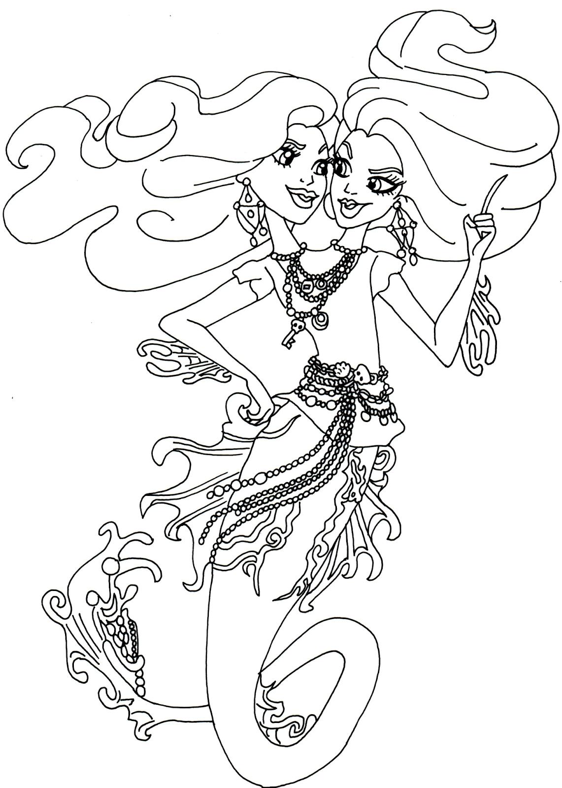Desenho De Peri Pearl Serpentine Para Colorir