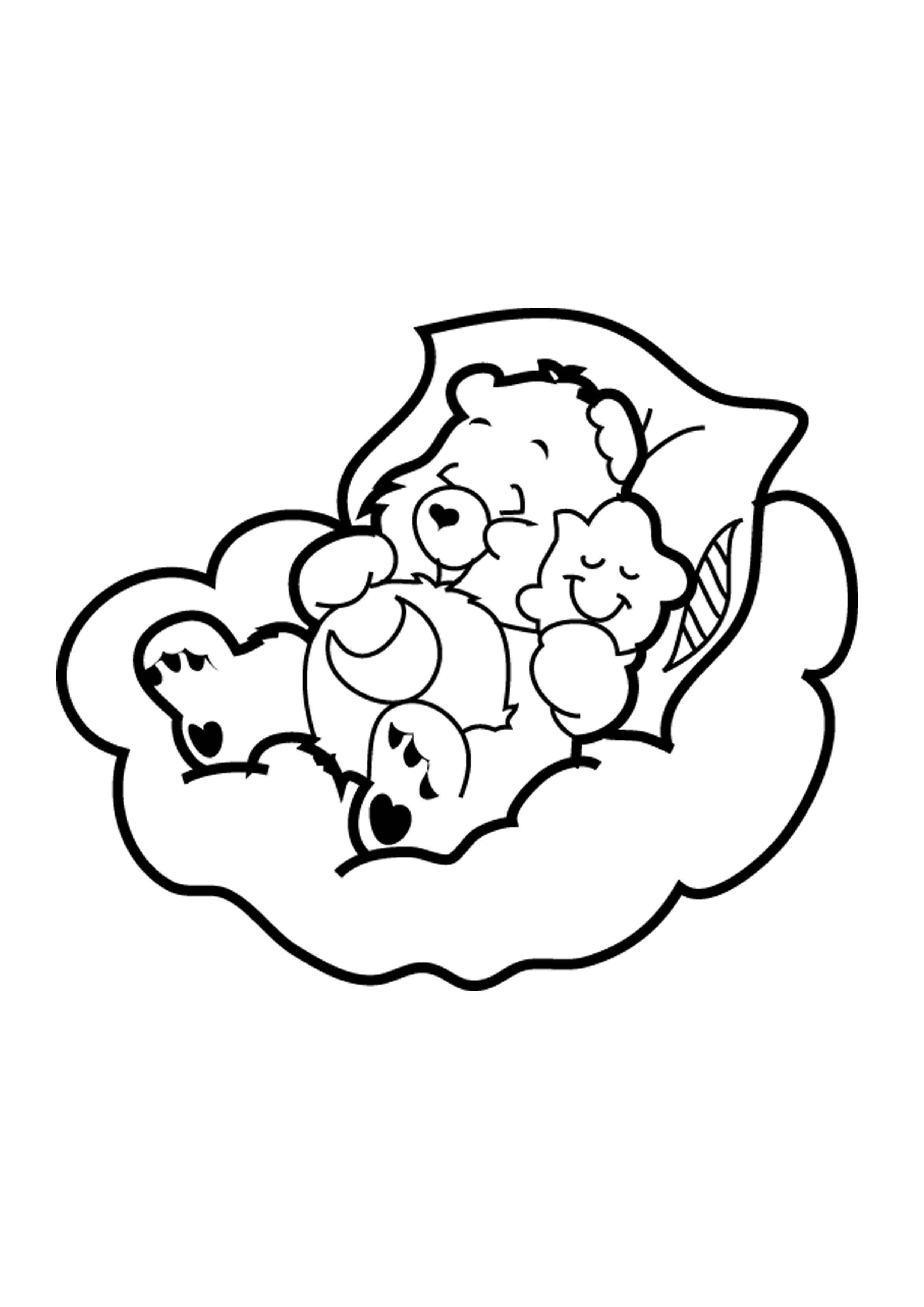 Desenho De Ursinho Carinhoso Dormindo Com Estrelinha Para