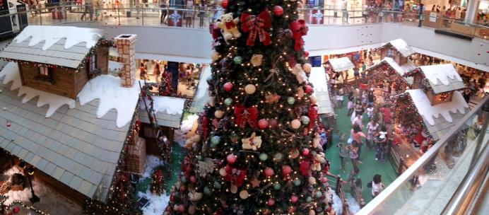 Foto panorâmica (decoração de Natal do Shopping Center Recife).