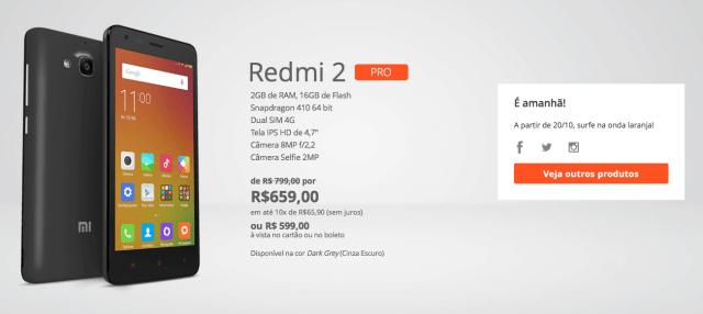 Redmi 2 Pro R$599