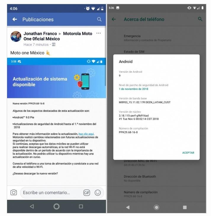 Motorola libera Android 9 0 para seu novo smartphone – Tudo