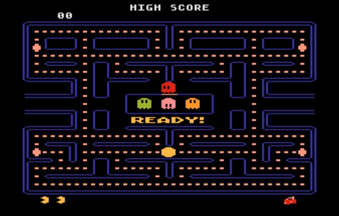 Acessando o JSMESS é possivel reviver grandes clássicos do Atari como Pac-Man.