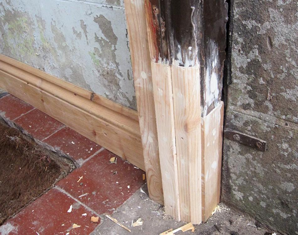 Tudor Carpentry Joinery Maintenance Shrewsbury Front Door Frame Rot Repair