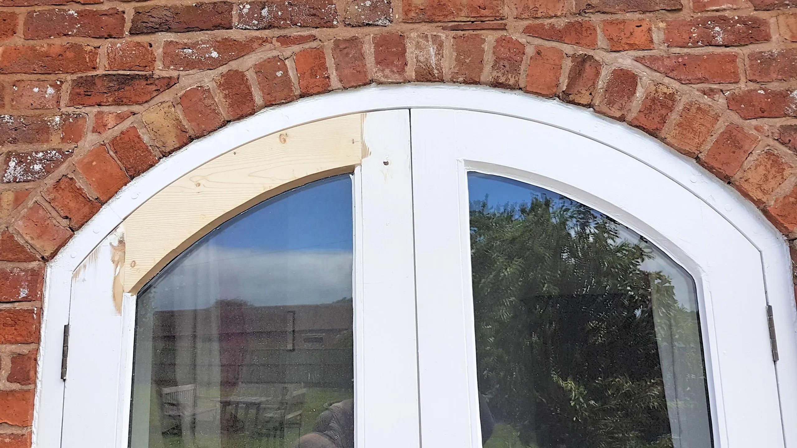 Repairing curved rotten door
