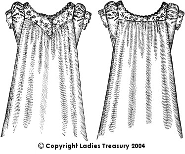 Front View, Lady's Old-fashioned Chemise, 1889 - 1893