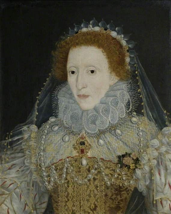 unknown artist; Elizabeth I (1533-1603); Old Schools, University of Cambridge; http://www.artuk.org/artworks/elizabeth-i-15331603-195458