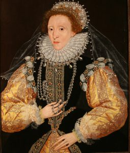 Portrait of Queen Elizabeth I, the ?Drewe Portrait?, late 1580s. 1580s George Gower, Attributed to d.1596
