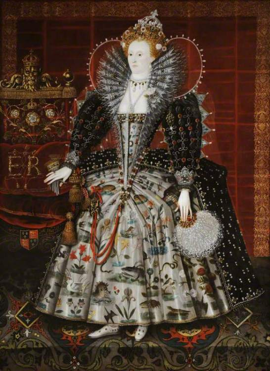 Hilliard, Nicholas; Elizabeth I (1533-1603); National Trust, Hardwick Hall; http://www.artuk.org/artworks/elizabeth-i-15331603-172271