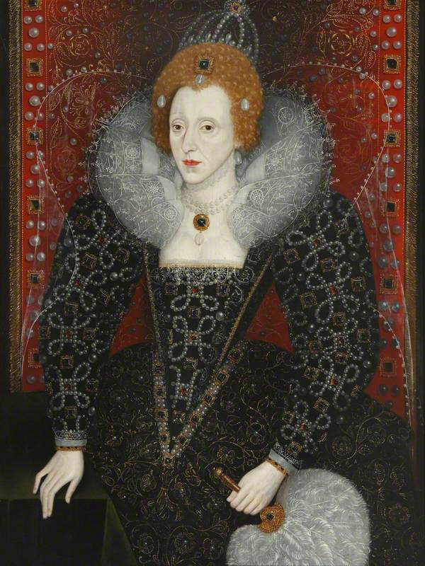 British (English) School; Elizabeth I (1533-1603); Magdalen College, University of Oxford; http://www.artuk.org/artworks/elizabeth-i-15331603-222443