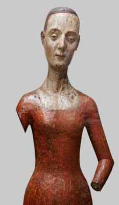 Catherine de Valois? wooden funeral effigy