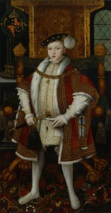 King Edward VI by Workshop associated with 'Master John' oil on panel, circa 1547 61 1/4 in. x 32 in. (1556 mm x 813 mm) Purchased, 1982 Primary Collection NPG 5511