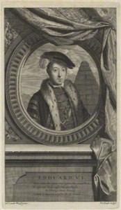 King Edward VI by Pieter Stevens van Gunst, after Adriaen van der Werff line engraving, 1697 12 5/8 in. x 7 1/4 in. (320 mm x 184 mm) plate size; 13 7/8 in. x 8 3/8 in. (352 mm x 212 mm) paper size Given by the daughter of compiler William Fleming MD, Mary Elizabeth Stopford (n�e Fleming), 1931 Reference Collection NPG D24802