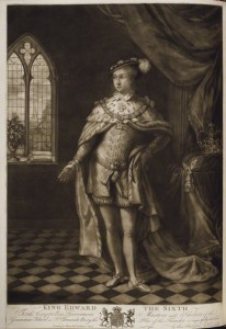 King Edward VI after J. Kendall mezzotint, published 1 November 1780 17 5/8 in. x 12 3/4 in. (448 mm x 325 mm) paper size Given by Sir Herbert Henry Raphael, 1st Bt, 1916 Reference Collection NPG D20189