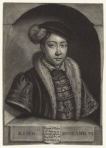 King Edward VI after Unknown artist mezzotint, 18th century 7 in. x 4 7/8 in. (179 mm x 125 mm) paper size Purchased with help from the Friends of the National Libraries and the Pilgrim Trust, 1966 Reference Collection NPG D21109