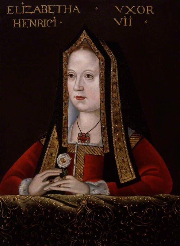 unknown artist; Elizabeth of York; National Portrait Gallery, London; http://www.artuk.org/artworks/elizabeth-of-york-158157