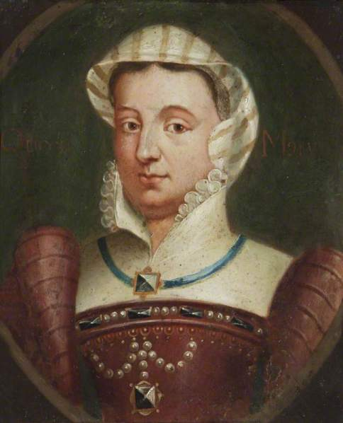 British (English) School; Imaginary Portrait of Mary I (1516-1558) (Mary Tudor); National Trust, Blickling Hall; http://www.artuk.org/artworks/imaginary-portrait-of-mary-i-15161558-mary-tudor-171181