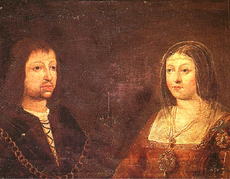 Wedding portrait of King Ferdinand II of Arag?n and Queen Isabel of Castile.