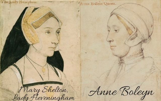 Mary Shelton, cousin to Anne Boleyn, c.?1532 � c.?1543 and sitter believed to be Anne Boleyn, c. 1533-1536