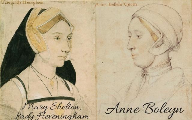 Mary Shelton, cousin to Anne Boleyn, c.?1532 � c.?1543 and sitter believed to be Anne Boleyn, c. 1533-1536