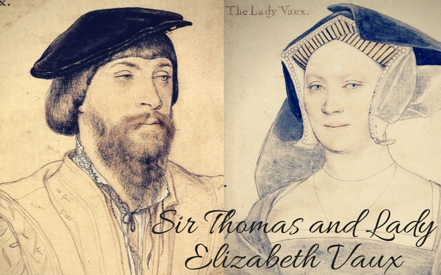 Elizabeth Vaux, c.?1536 and Sir Thomas Vaux, c. 1533