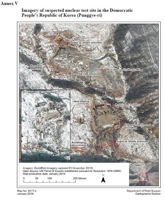 Imagem da suspeita do local de test niclear da Coreia do Norte