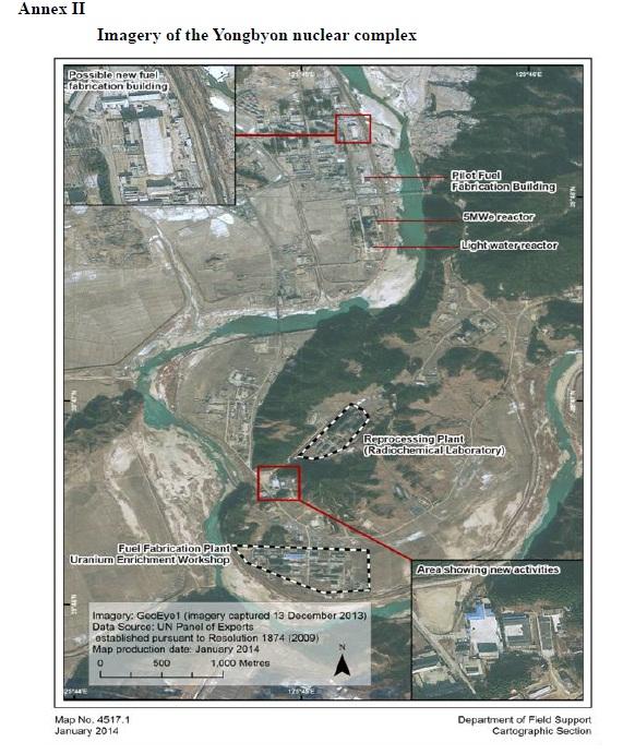 Imagens do Yongyon complexo nuclear