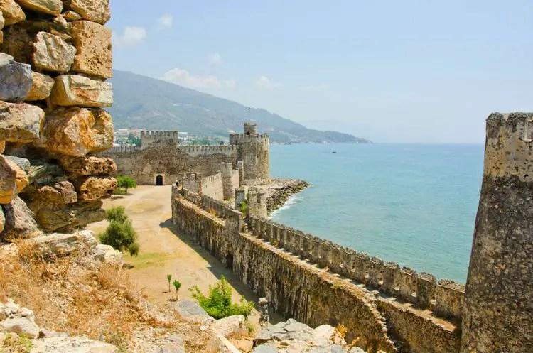 Burg Mamure Kalesi in Kap Anamur, Türkei.