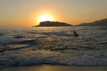 Sonnenuntergang am Meer in Alanya