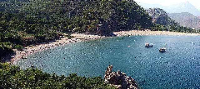 Mündung des Olympos Fluss ins Meer