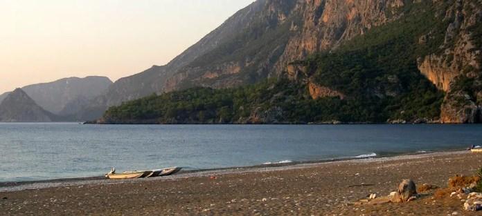 Blick vom Olympos Beach auf das Meer