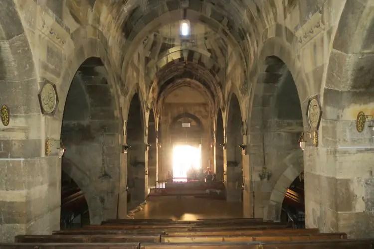 Das Innere einer Karawanserei in Kappadokien.