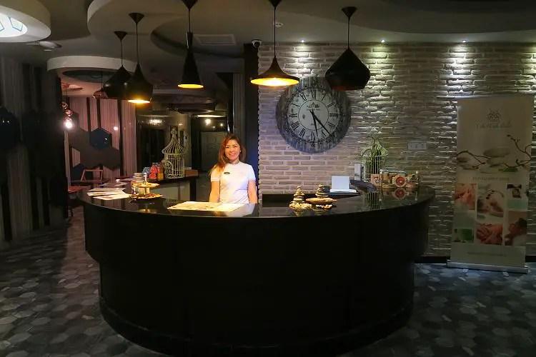 Der Eingang des Spa- und Wellnessbereich im Sunprime C Lounge Hotel in Alanya.