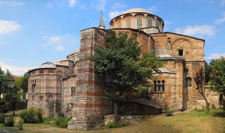 Die Fassade der Chora Kirche.