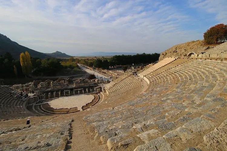 Blick vom Römischen Theater auf Ephesus