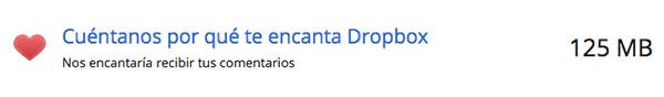 Dropbox obtener espacio