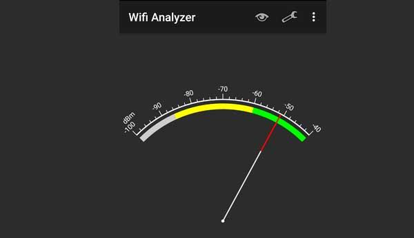 WiFi Analyzer señal