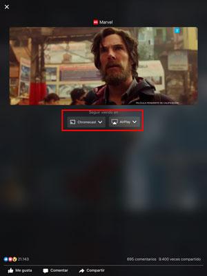 Cómo ver vídeos de Facebook en el televisor