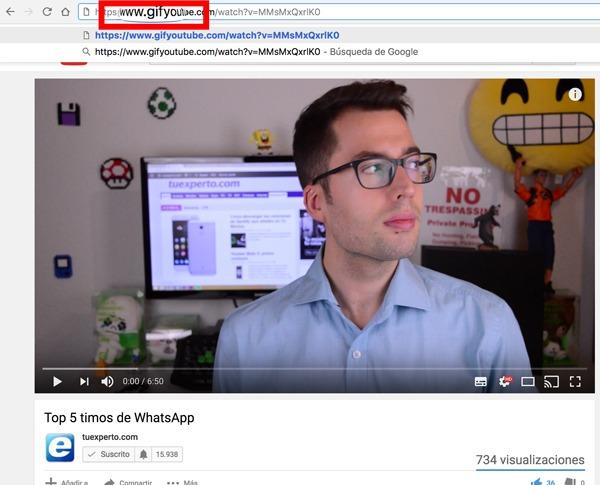 Crear GIF de YouTube