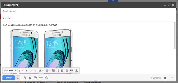 insertar imagen cuerpo gmail