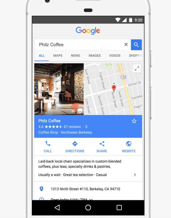 Google Maps tiendas llenas