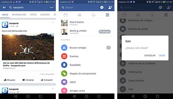 dos cuentas facebook