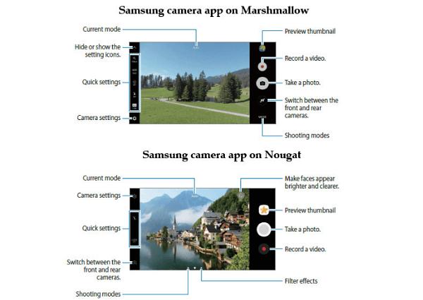 samsung galaxy s7 actualización cámara