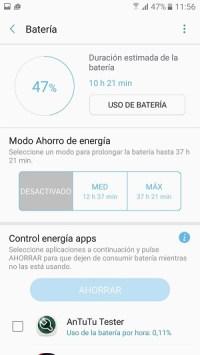 Uso de batería en el Samsung℗ Galaxy℗ A5 2017