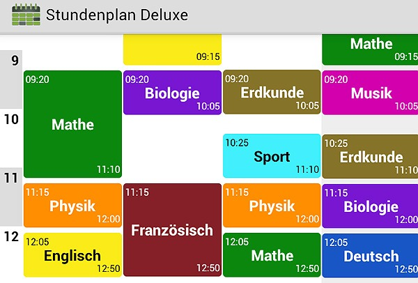 Timetable app